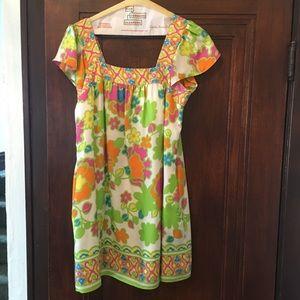 Milly Flutter Sleeve Print Dress